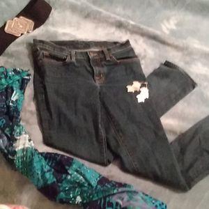 J Brand size 12 dark pink skinny jeans